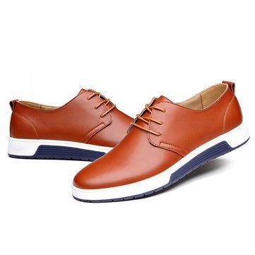 Männer-reine Farbe beiläufige Lace Up britische Art Oxford Schuhe