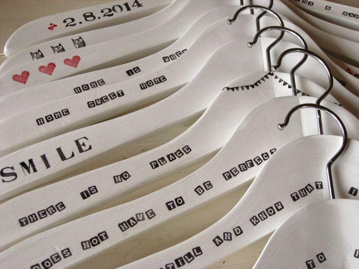DIY: Kleiderbügel zur Hochzeit / Hochzeitsgeschenk / Clothes hangers / Wedding gift