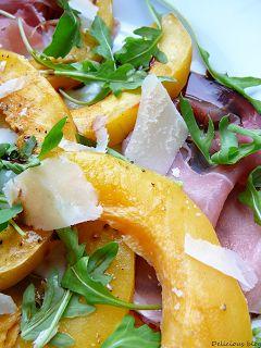 Delicious blog: Teplý salát s máslovou dýní a sušenou šunkou