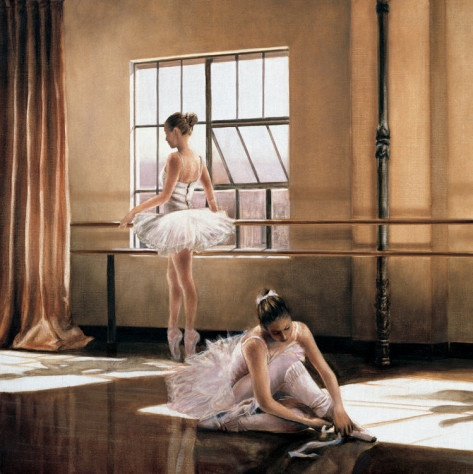 Rehearsal I Art Print: Dance Art, Ballet Studios, Rehear, Cristina Mavaracchio, Artists Touch, Art Prints, Canvas Wall Art, Frames Artworks, Favorite Dancers