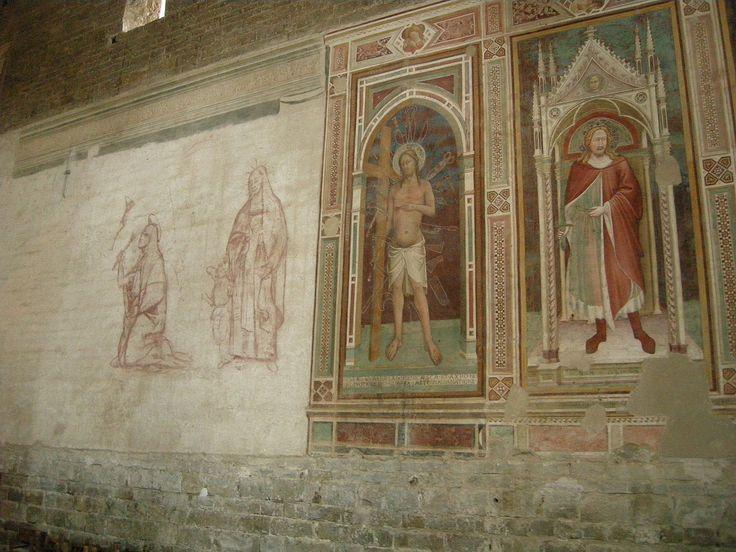 Sm al monte, interno, affreschi 04 cristo tra oggetti taglienti - Category:San Miniato al Monte (Florence) - Interior - Wikimedia Commons