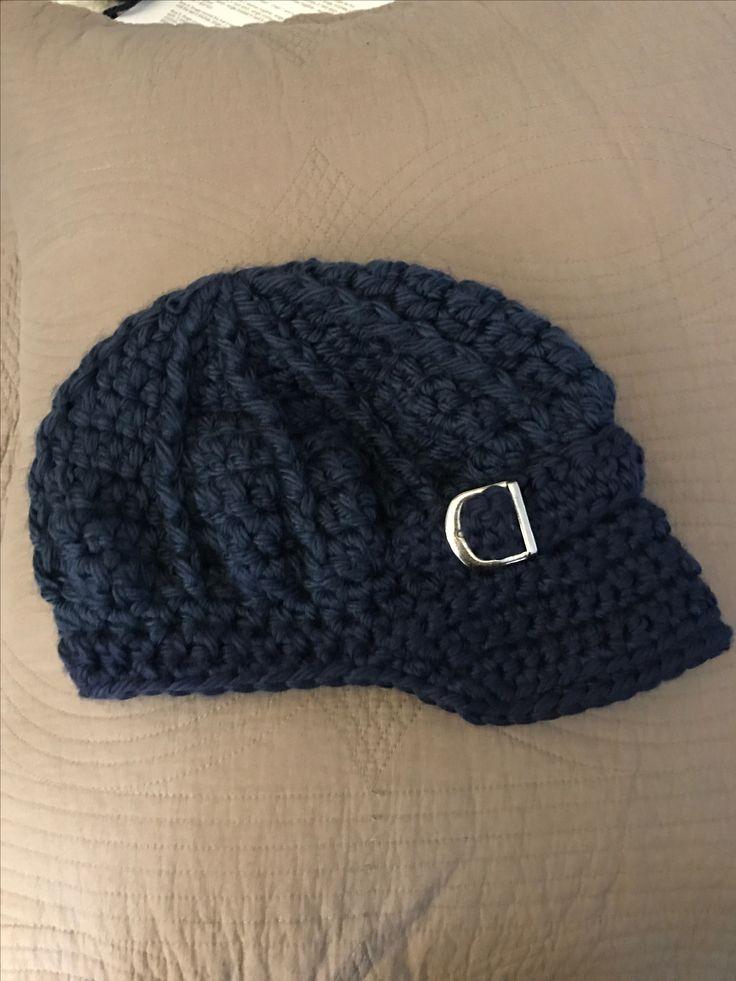 Navy Blue Newsboy Hat