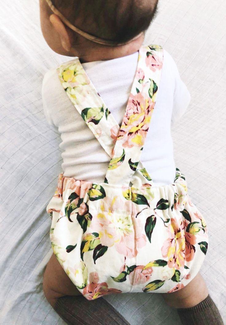Beautiful Handmade Floral Baby Romper | Littleheadtotoe on Etsy