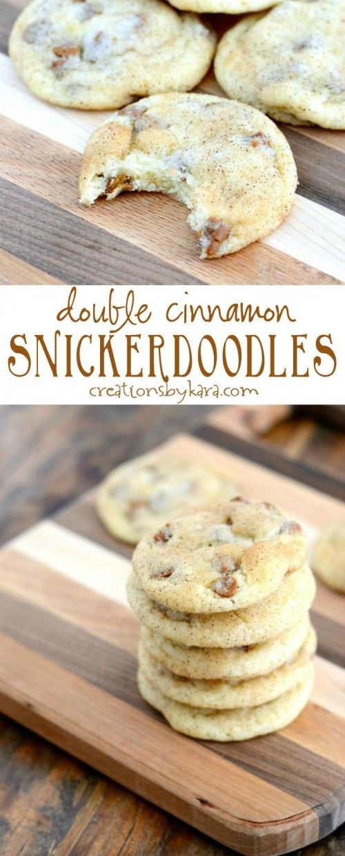 Cinnamon Snickerdoodle Cookies made even better with the addition of cinnamon chips. You must try them!