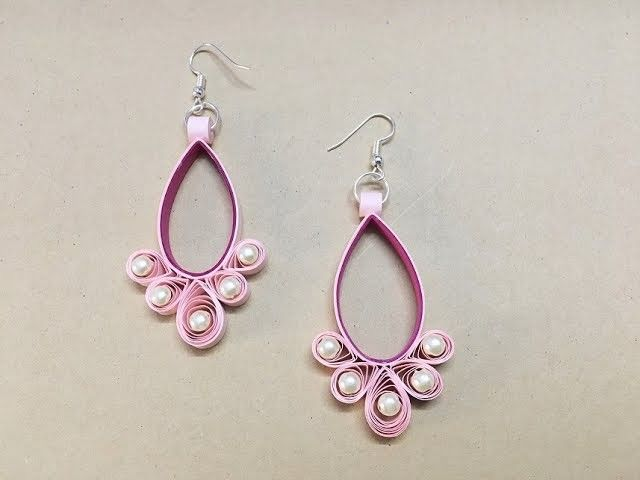 How To Make Paper Earrings. Paper Jewellery making. Paper Quilling Tutorial