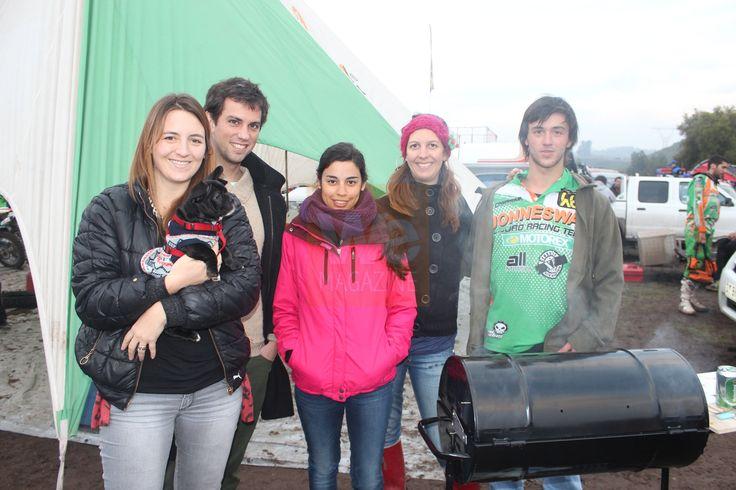 Catalina Gracia, Diego Meyer, Valentina Donoso, Bárbara Pirazzoli y Sebastián Gracia.   Primera fecha Campeonato Nacional FIM Curicó/ Romeral. 23 de junio de 2013