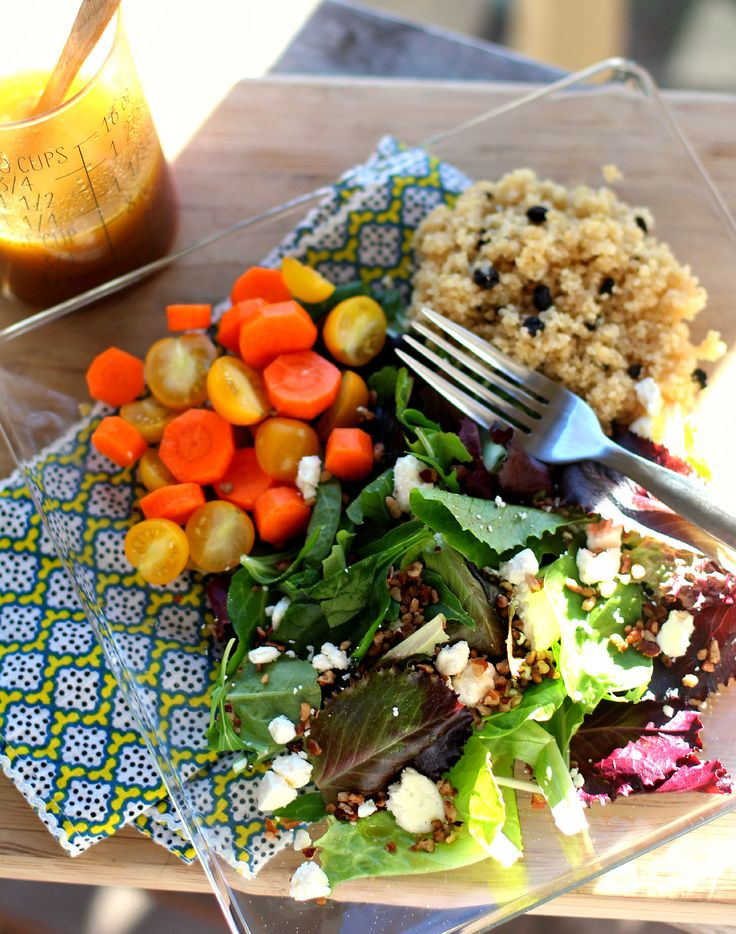 Crunchy Salad with Quinoa Pilaf and Citrus Vinaigrette