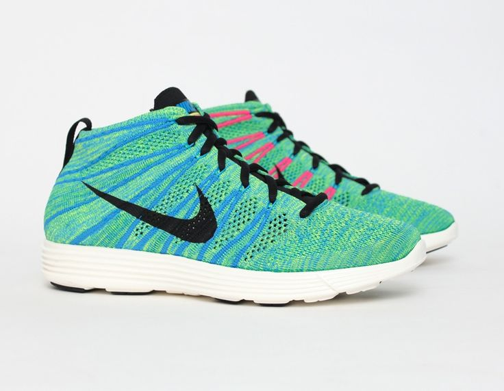 the best attitude e1ed4 7d6ec coupon for nike lunar flyknit chukka green blue glow pink sneakers 4c118  03d3f