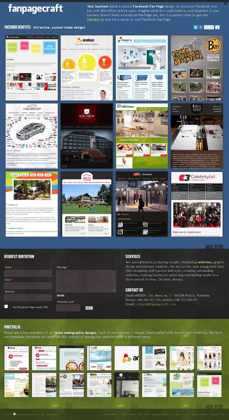 Web design and development - Custom made Facebook Fan Page design - http://www.fanpagecraft.com