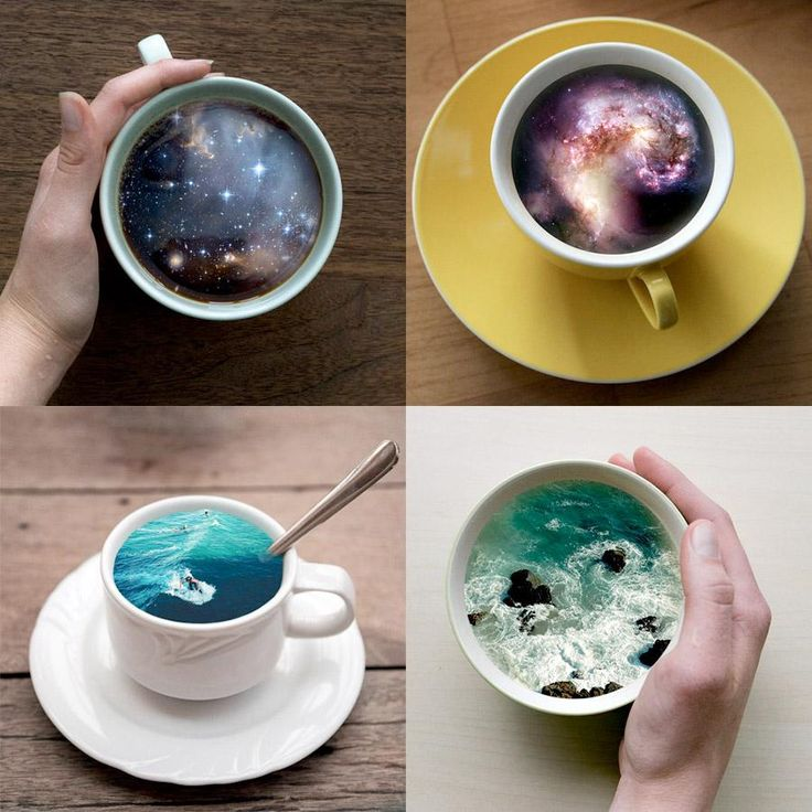 Coffee Cup Galaxies: http://www.toxel.com/inspiration/2015/06/09/coffee-cup-galaxies/…