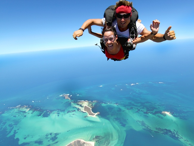 Sky diving on Mission Beach, QLD