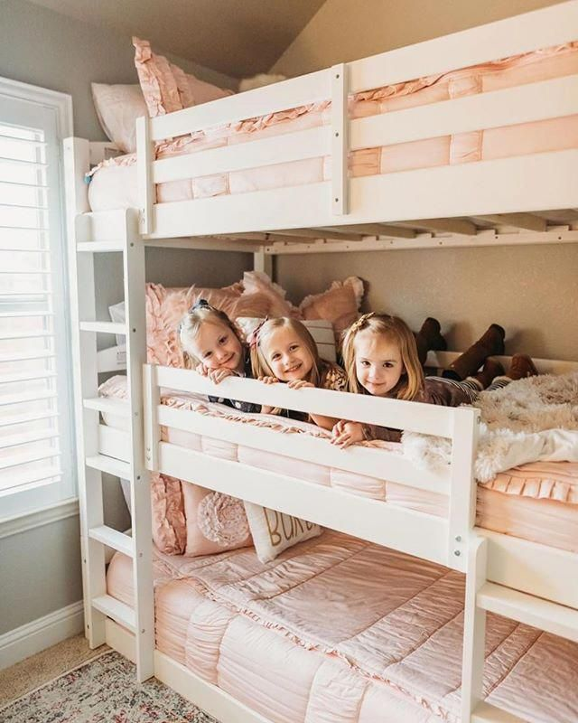 10 Awesome Bunk Beds Kids Girls White Frame Bunk Beds Twin Over Twin Furnituremedan Furnitureinterior Bunkbeds Kids Bunk Beds Kid Beds Bunk Beds