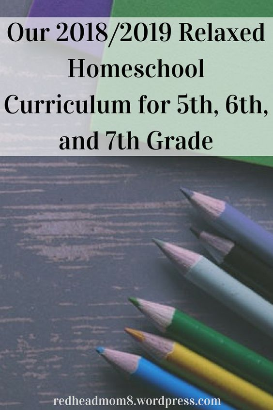 Our 20182019 Relaxed Homeschool Curriculum For 5th 6th And 7th