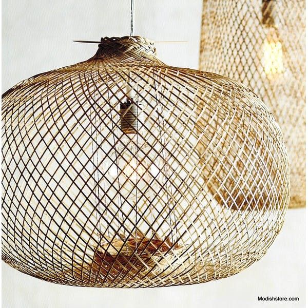 Lumina Bamboo Handwoven Pendant Lamps - Sphere & Oblong – Modish Store