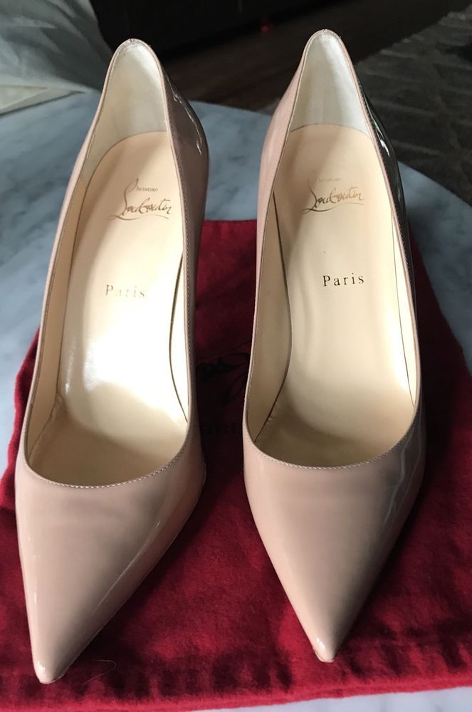 low priced 3f274 99946 AUTHENTIC Christian Louboutin Decollete 554 85 mm Nude ...