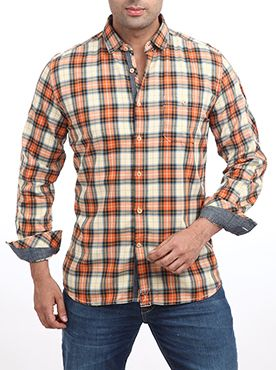 This casual classic checkered shirt by Parx elevates the stylish feel of your off-duty outfits. The shirt has a spread collar with full button placket. It has long sleeves with press button cuffs. This is crafted using 100% super fine cotton fabric and techniques for a refined look. This collection is guaranteed to elevate the fashion quotient of your wardrobe. It is a must-have in any man�s wardrobe. It can be tried with slim fit denims or chino trousers and loafers to complete the casual…
