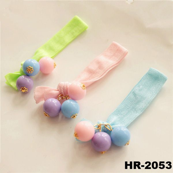 New products 2016 fashion hair accessories girls 6 colors knotted hair scrunchies wholesale hair ties with balls