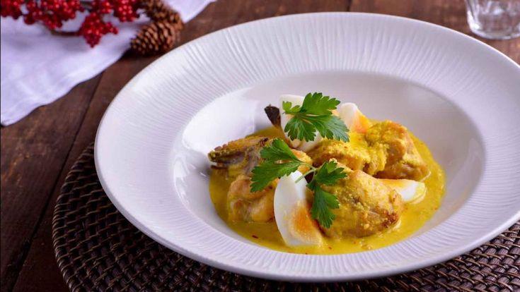 Pollo al azafrán con almendras - Sergio Fernández - Receta - Canal Cocina