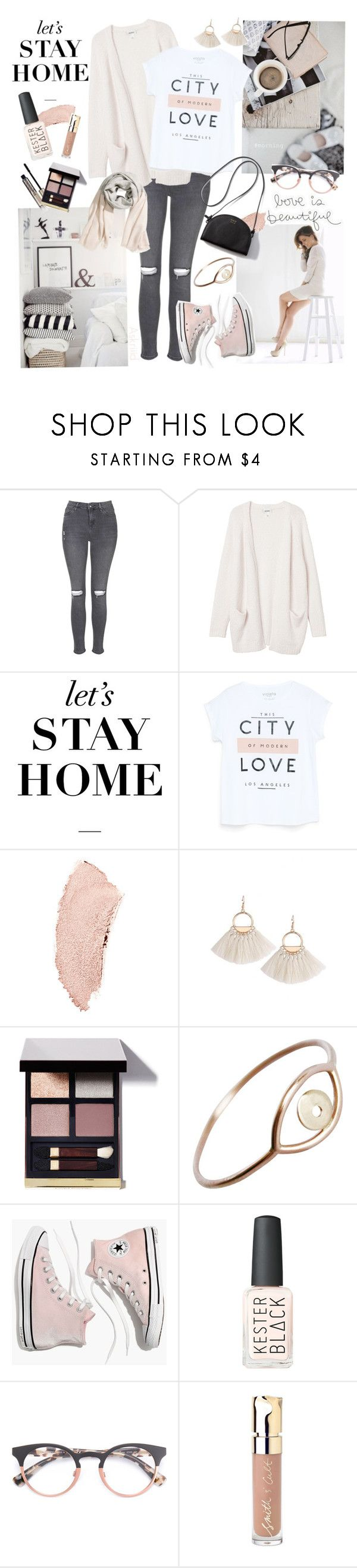 """""""Let's stay at home"""" by askriiid ❤ liked on Polyvore featuring Topshop, Monki, WALL, Zooey, MANGO, Chanel, Tom Ford, Stefanie Sheehan Jewelry, Madewell and Kester Black"""
