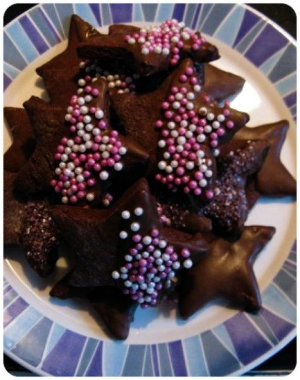 Chocolate Star Cookies image