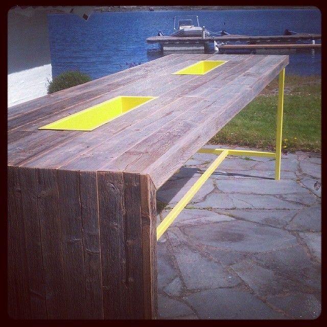 #Barbord #sommeren er langt unna #drivved