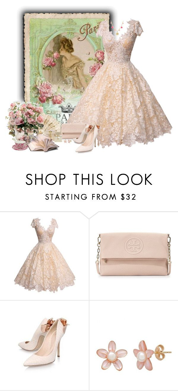 """""""Clássico Vintage"""" by sil-engler ❤ liked on Polyvore featuring Tory Burch, RALPH & RUSSO, Gucci, Rosa Cha and vintage"""
