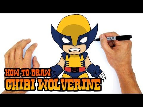 How to Draw Wolverine (Chibi)- Kids Art Lesson - YouTube