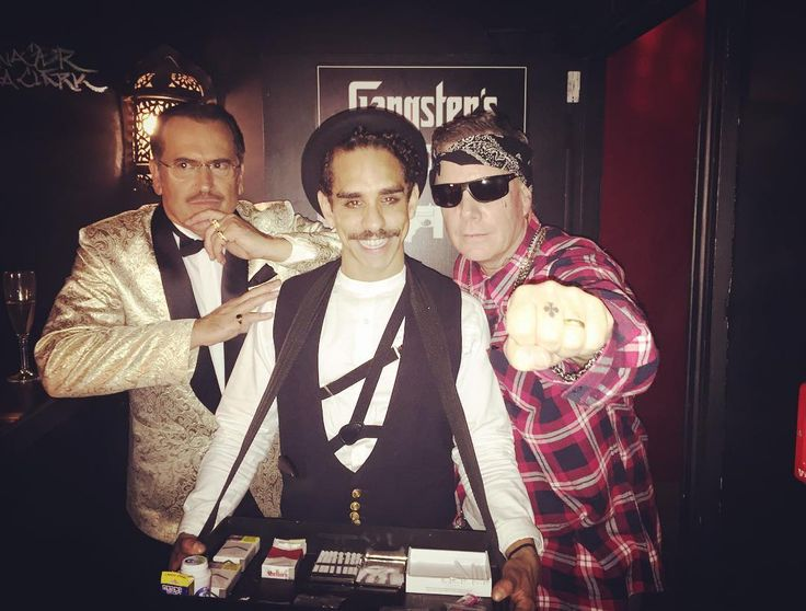 Bruce Campbell, Ray Santiago and Rob Tappert at the AvED s3 halfway party