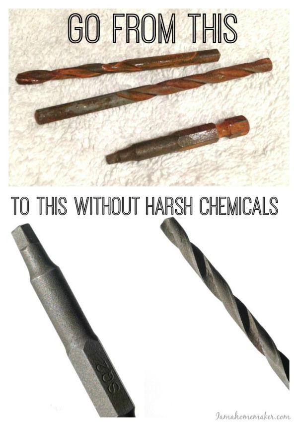 To remove rust from tools, just soak in vinegar for a day. Scrub with an old toothbrush, clean and coat with WD 40 to stop future rust.