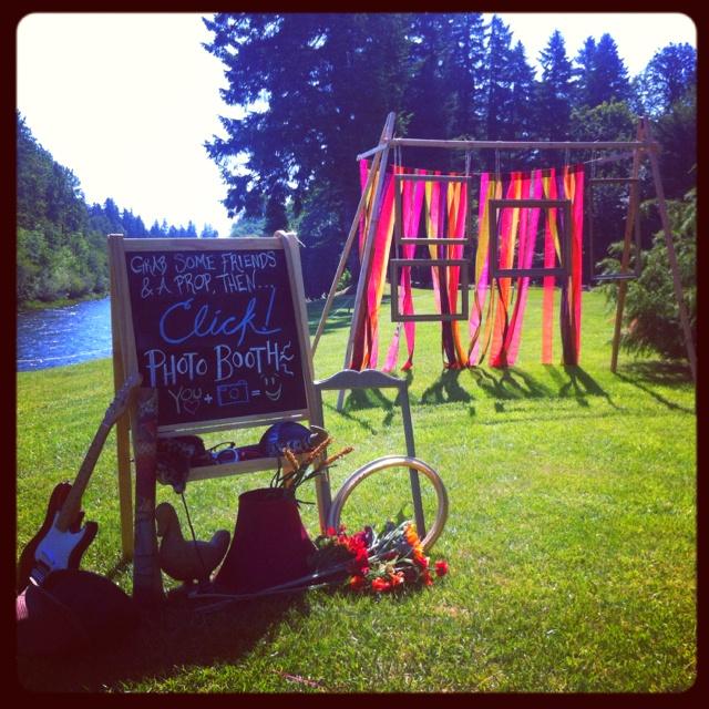Fun Outdoor Wedding Ideas: Fun, Homemade Photo Booth We Made For Friends Wedding. It