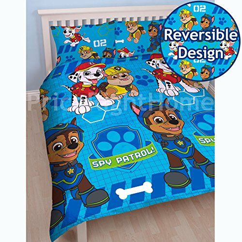 PAW PATROL 'Spy' Double Duvet Set - Repeat Print Design, ...