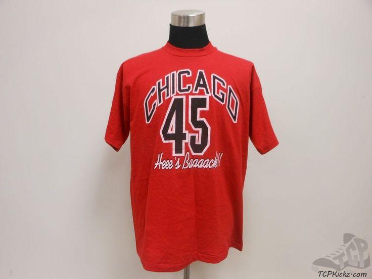 Vtg 90s Fruit of the Loom Chicago Bulls Michael Jordan t Shirt sz XL Extra Large #FruitoftheLoom #ChicagoBulls #tcpkickz