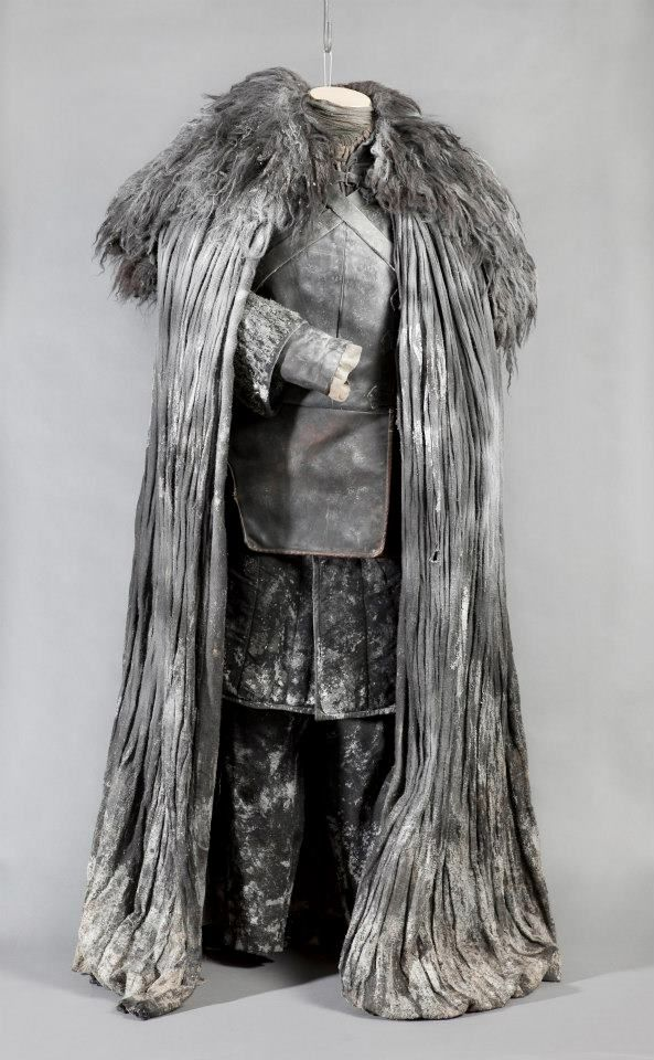 "Costume for ""Jon Snow"" (as worn by Kit Harington) 'Game of Thrones' 2011-. Costume design by Michele Clapton."