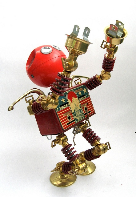 Panasonic - Found Object Robot Action Figure Assemblage Sculpture 6 by adopt-a-bot, via Flickr
