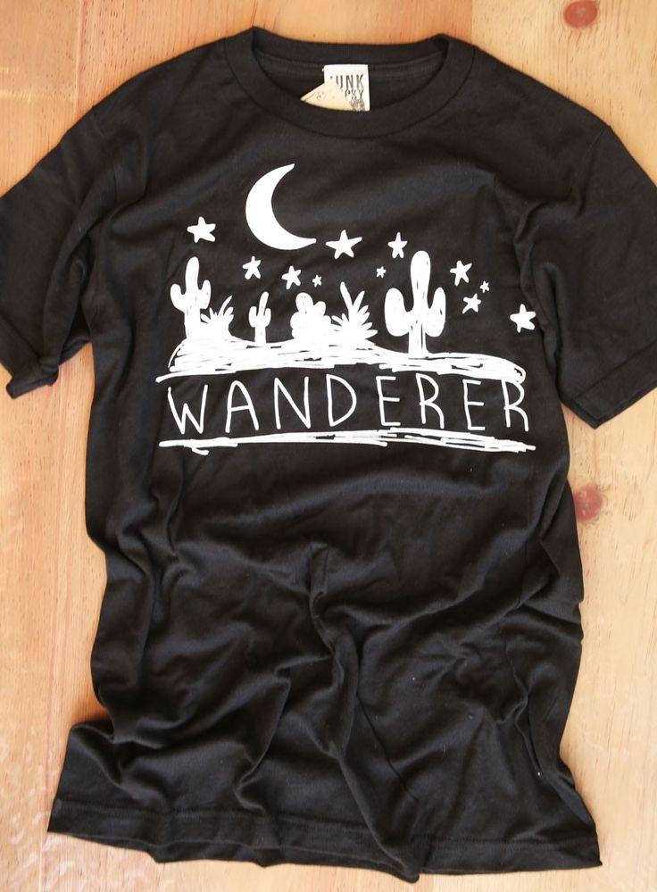 WANDERER BLACK TEE - Junk GYpSy co.