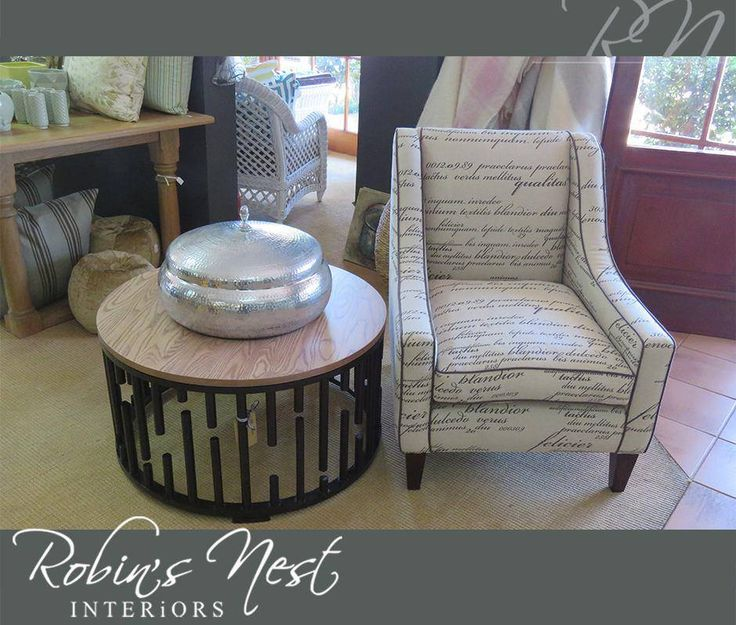 This trendy lounge chair is the perfect way to wow your geusts. Get it at #RobinsNest today! #LoungeChair #Lifestyle