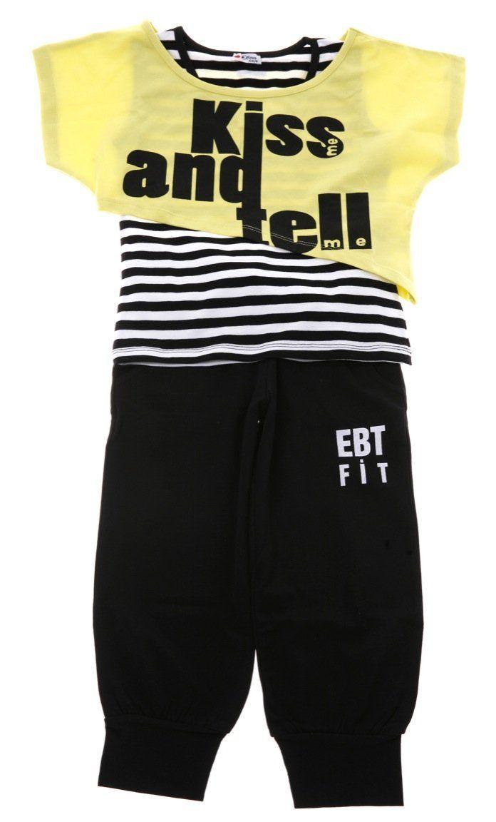 Εβίτα παιδικό σετ διπλή μπλούζα-παντελόνι «Kiss And Tell»  €18,30