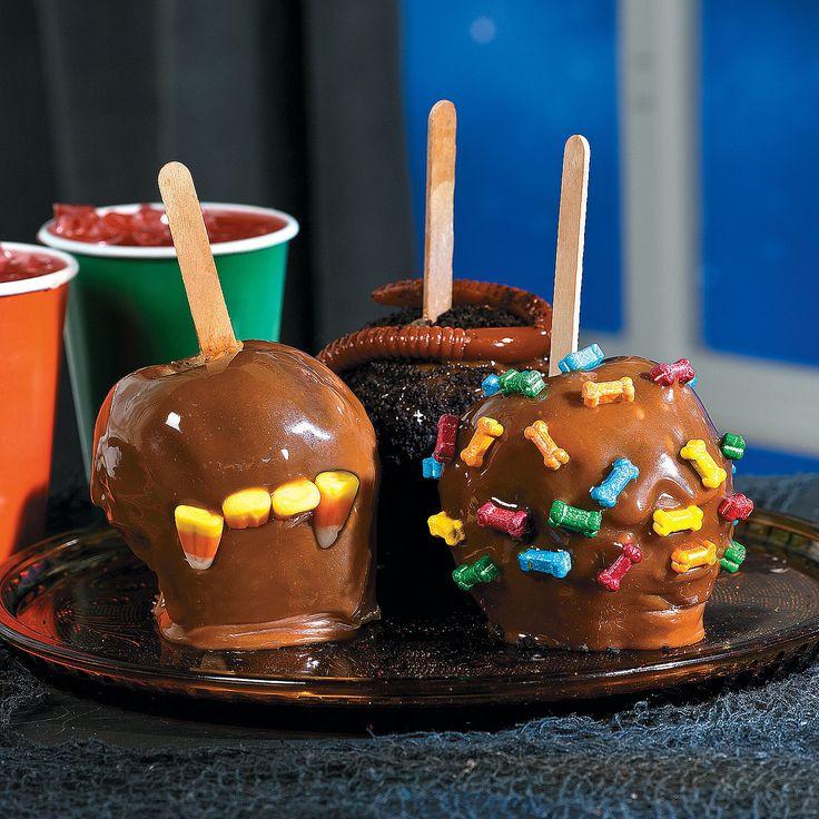 halloween caramel apple projects orientaltradingcom - Caramel Apple Ideas Halloween