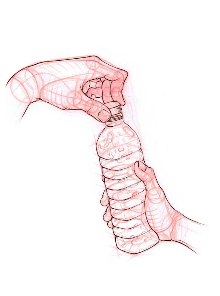 Hand drawing - carrying out the action