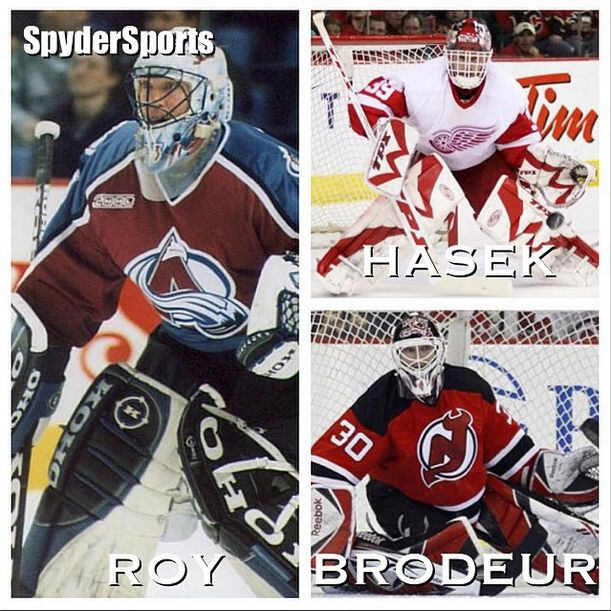 The discussion of who is the best #goalie of all-time in the #NHL will never end. But these three are definitely involved. Who is your pick from #PatrickRoy #DominikHasek and #MartinBrodeur? #MontrealCanadiens #ColoradoAvalanche #BuffaloSabres #DetroitRedWings #OttawaSenators #NewJerseyDevils #StLouisBlues #ChicagoBlackhawks #Canadiens #habsnation #sabres #avalanche #redwings #devils #blues #blackhawks #hockey #hockeygoalie #SpyderSports