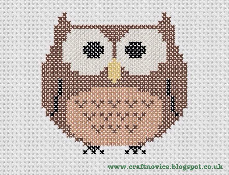 cross stitch patterns free printable | Craft Novice: Free Cross Stitch Owl Pattern