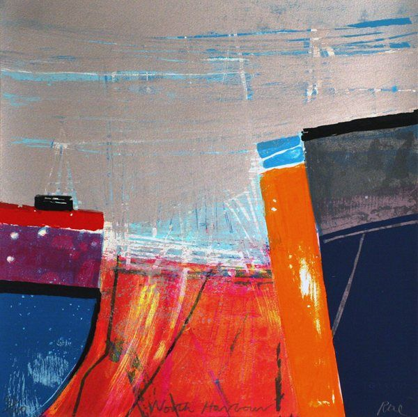 North Harbour by Barbara Rae @ http://www.creativeartsgallery.com/art/printmaking/original-prints-(22)/north-harbour/ - £750