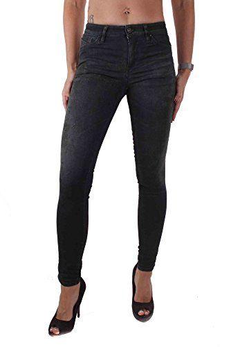 b9fc6ff97c Diesel Skinzee 0847B Femmes Jeans Skinny Super Slim (W27/L32 Noir ...