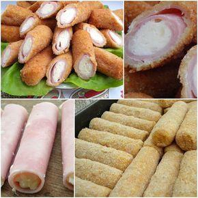 Hozzávalók: 20 szelet sonka, 5 dkg vaj, 2 evőkanál liszt, 2 dl tejföl, 10 dkg sajt,só 2 tojás, 20 dkg zsemlemorzsa, olaj a sütéshez  A vaj...