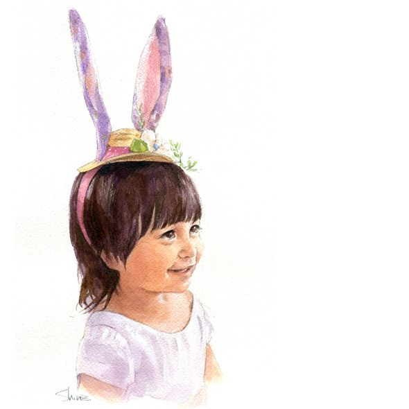 Little Easter Bunny... Christina Chang | Clip Art: Girls | Pinterest