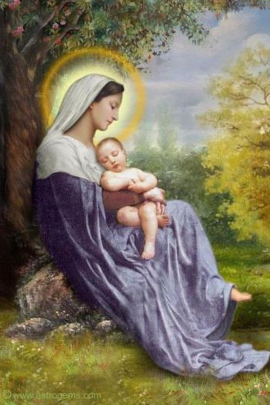 """Blessed Mother Mary antique holy card via Dianne.Neumann Pratt ~~~ """"Mary, did you know that your baby boy..."""".."""