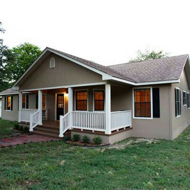Mobile Home Additions: Great Front Porch Addition Ranch Remodeling Ideas (17