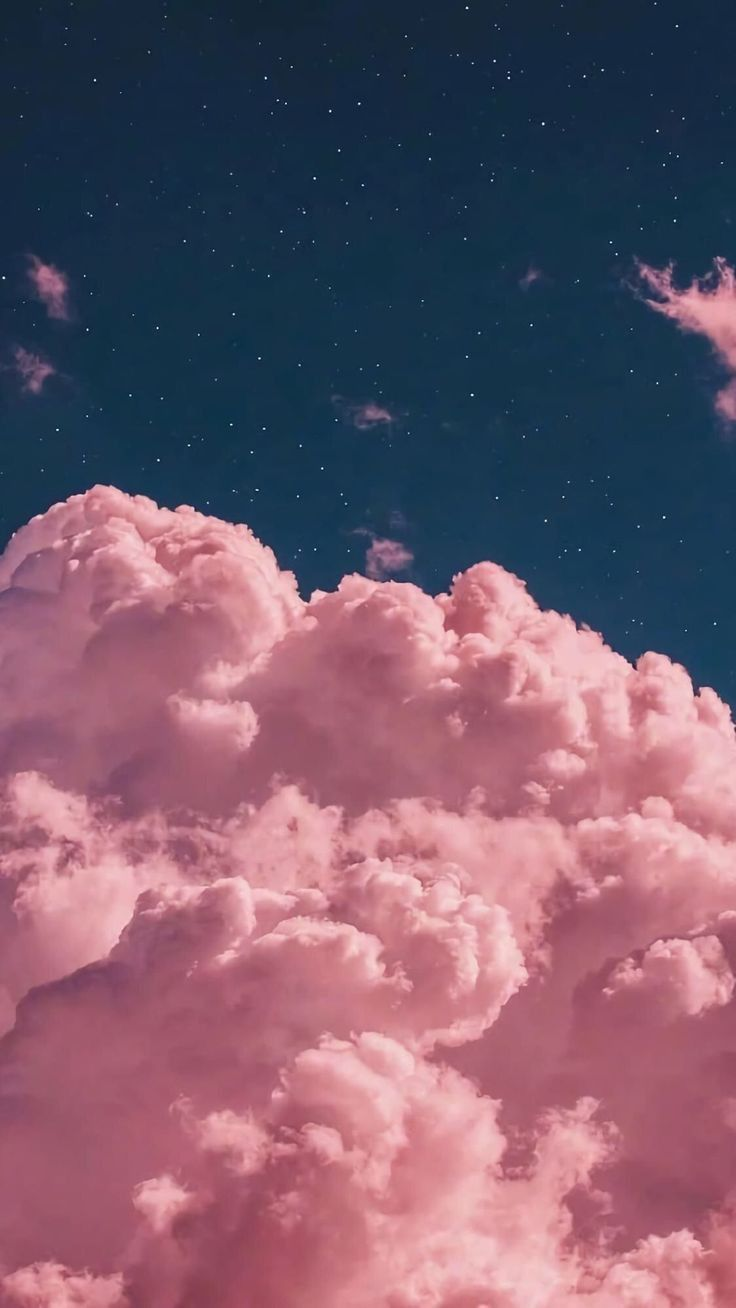 Pink Cloud In Night In 2020 Iphone Wallpaper Sky Cloud Wallpaper Cute Black Wallpaper