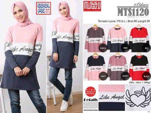 t shirt labuh muslimah murah,: Model Baju Tunik MTS1120