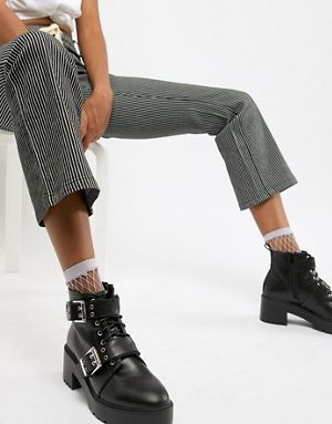fed4aa1327f0 ASOS DESIGN Rouge chunky lace up buckle boots | fw 2018 accessories ...